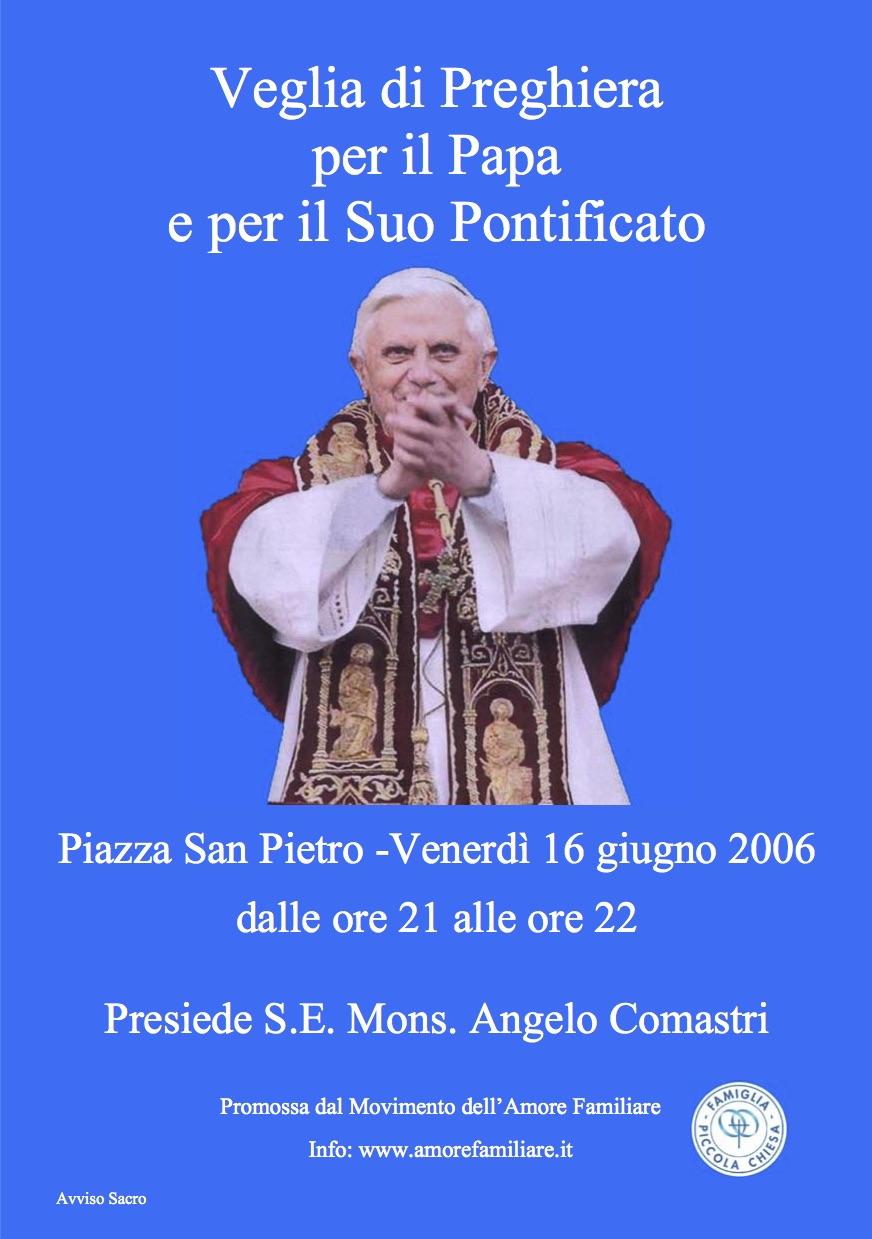 volantino veglia papa 2006