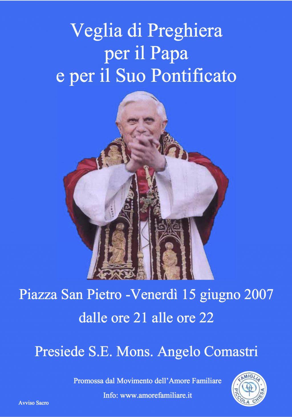 volantino veglia papa 2007