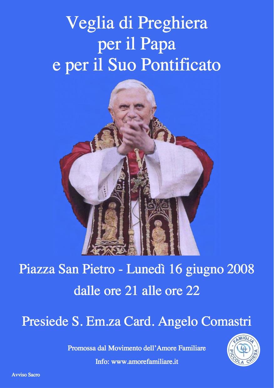 volantino veglia papa 2008
