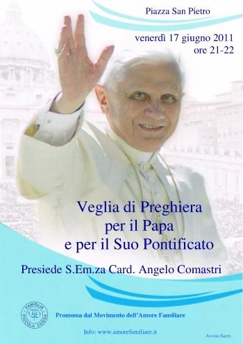 volantino veglia papa 2011
